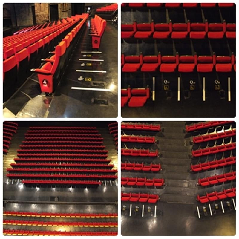 Wheelchair seating space in the theatre.